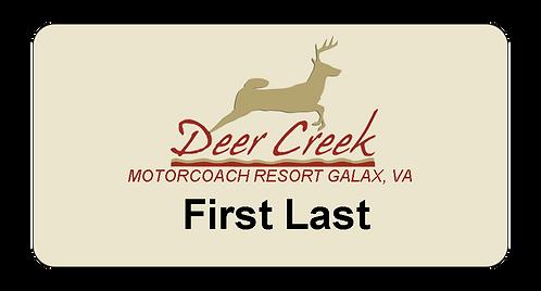 Deer Creek Name Tag
