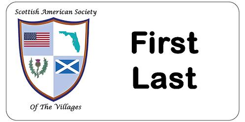 Scottish American Society Name Tag