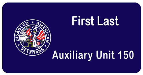 Disabled American Veterans Name Tag