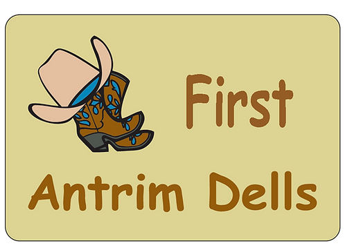 Antrim Dells Boots Name Tag