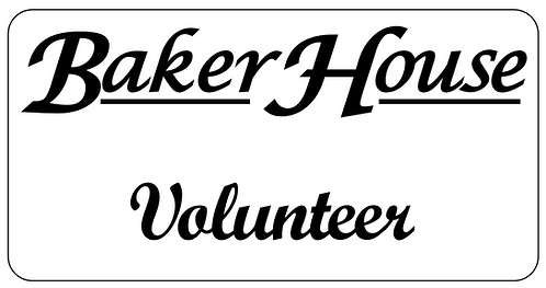 Baker House Name Tag