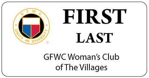 GFWC Woman's Club Name Tag