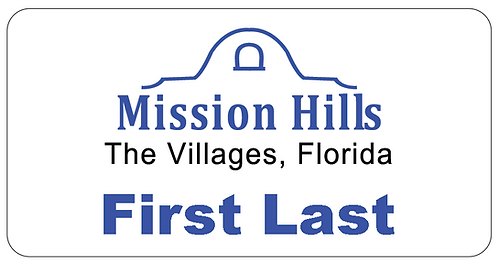 Mission Hills Name Tag