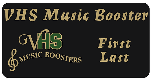 VHS Music Boosters Name Tag