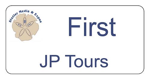 JP Tours Name Tag