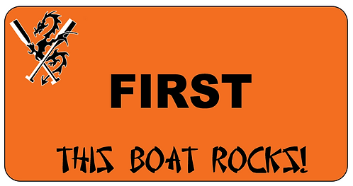 This Boat Rocks Name Tag