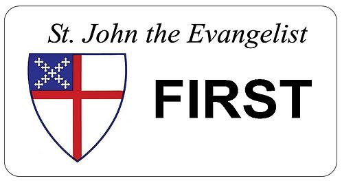 St. John the Evangelist Name Tag