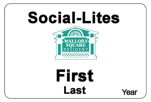 Mallory Square Social-Lites Name Tag