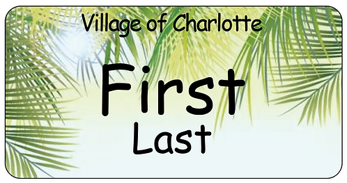 Village of Charlotte Name Tag
