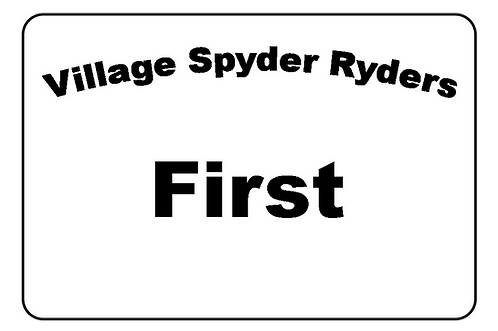 Village Spyder Ryders Name Tag