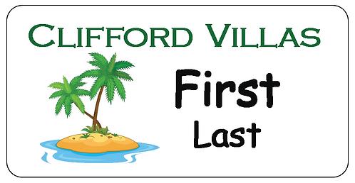 Clifford Villas Name Tag