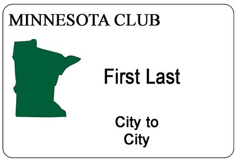 Minnesota Club Name Tag