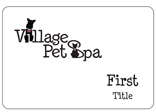 Village Pet Spa Name Tag