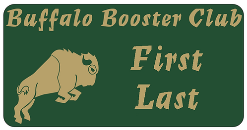 Buffalo Booster Club Name Tag