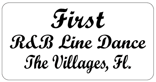 R&B Line Dance Name Tag
