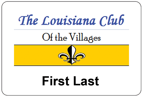 Louisiana Club Name Tag