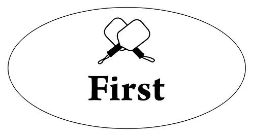 Oval Pickleball Name Tag