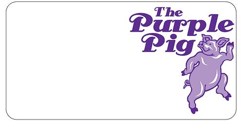 Purple Pig Name Tag