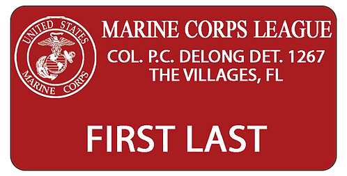 Marine Corps League Name Tag