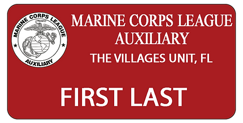 Marine Corps League Auxiliary Name Tag