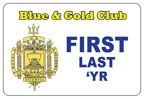 Blue & Gold Club Name Tag