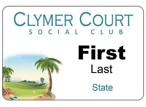Clymer Court Name Tag