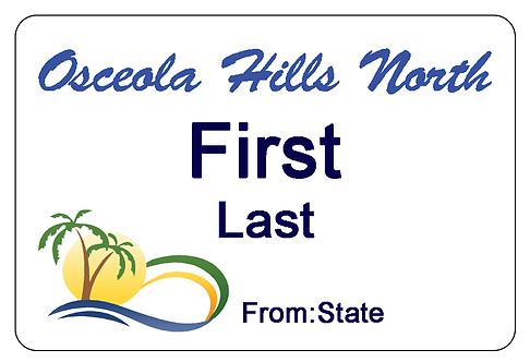 Osceola Hills North Name Tag