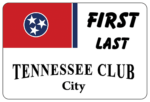 Tennessee Club Name Tag