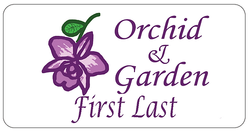 Orchid & Garden Name Tag