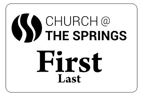 Church at the Springs Name Tag