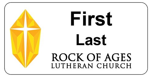Rock of Ages Name Tag