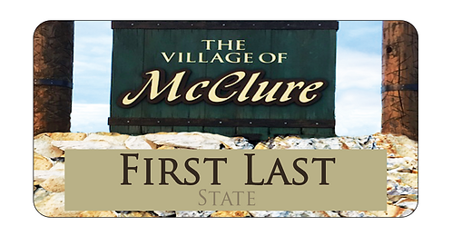 Village of McClure Name Tag