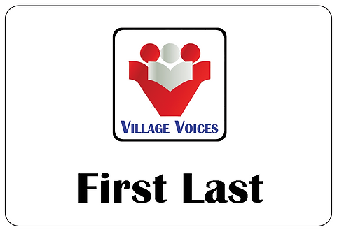 Village Voices Name Tag