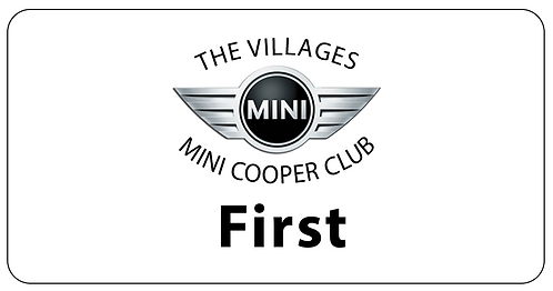 Mini Cooper Club Name Tag