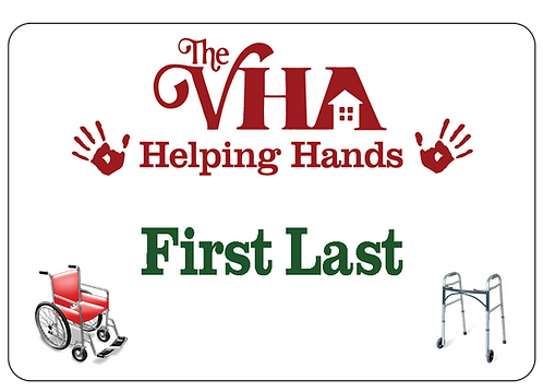 VHA Helping Hands Name Tag