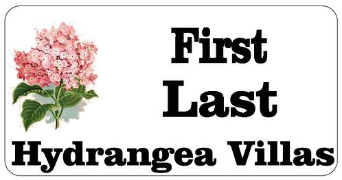 Hydrangea Villas Name Tag