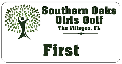 Southern Oaks Girls Golf Name Tag