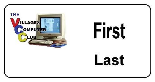 Computer Club Name Tag