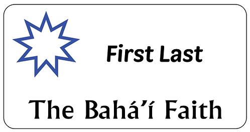 The Bahai Faith Name Tag