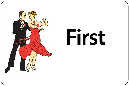 Ballroom Dancers Name Tag