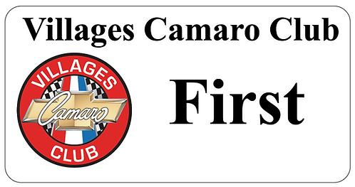 Villages Camaro Club Name Tag
