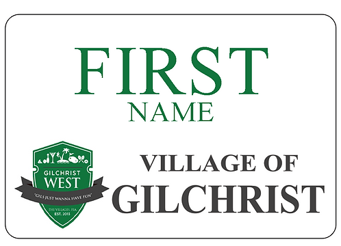 Village of Gilchrist Name Tag OPT 1