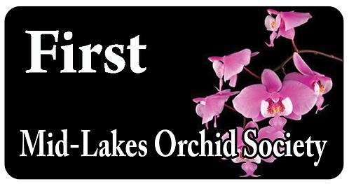 Mid-Lake Orchid Society Name Tag