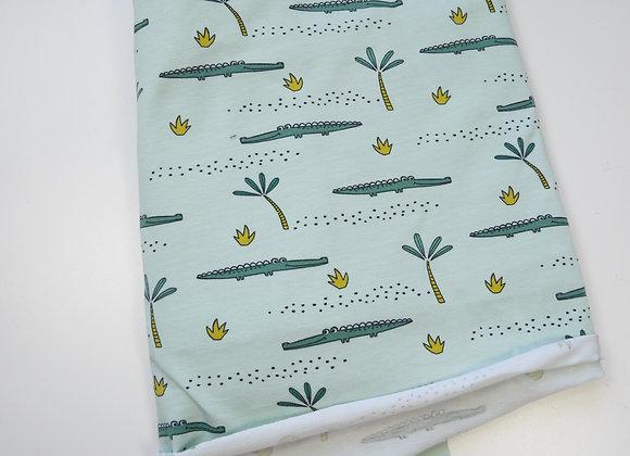 Tissu croco menthe (150 cm de large et 80 de haut)