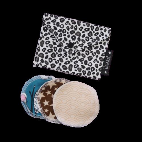 Pochette léopard avec ses cotons