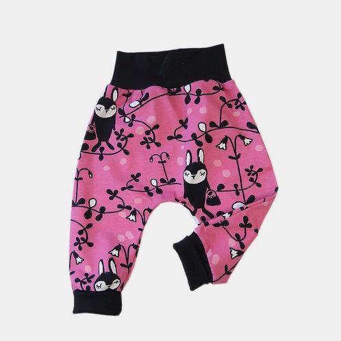 Sarouel pink avec oursons (6 - 9 mois)