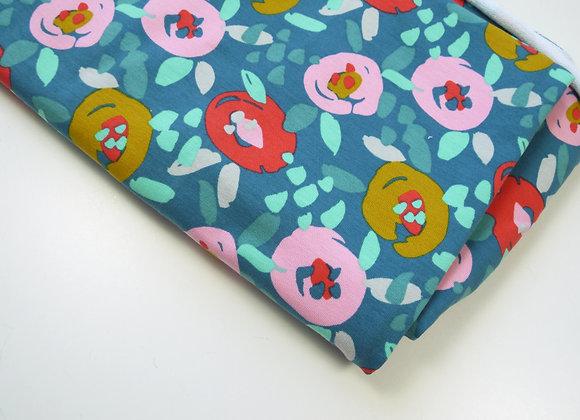 Tissu à fleurs (110 cm de large et 80 de haut)