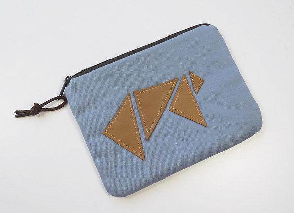 Trousse avec origami en cuir
