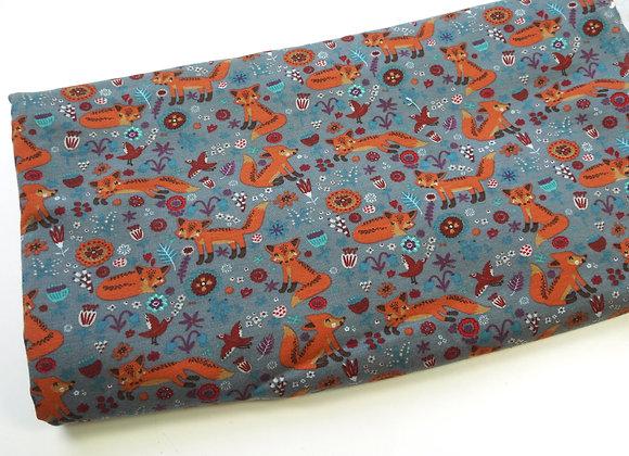 Tissu renards (150 cm de large et 60 de haut)