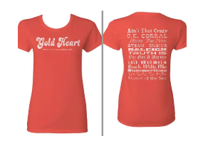Gold Heart Womens T